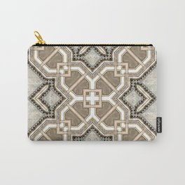 Victorian Art Deco Medieval Pattern light gray SB27 Carry-All Pouch