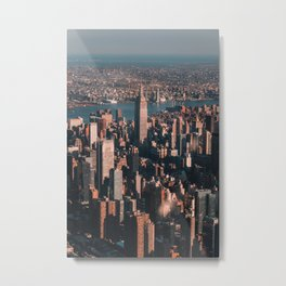 Empire State Building seen from a plane Metal Print