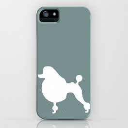 Poodle Blue | Dogs iPhone Case