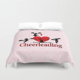 I Heart Cheerleading Duvet Cover