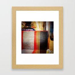 the light rail. Framed Art Print