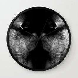 Back to Back 2 Wall Clock