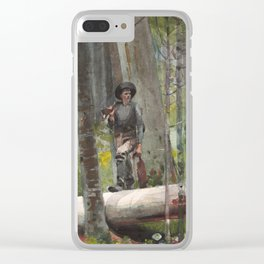 Winslow Homer - Hunter in the Adirondacks, 1892 Clear iPhone Case