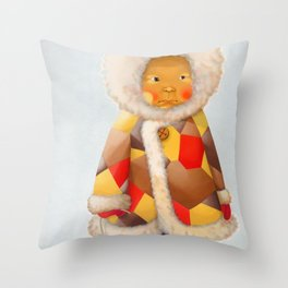 a child being lost in thought Throw Pillow
