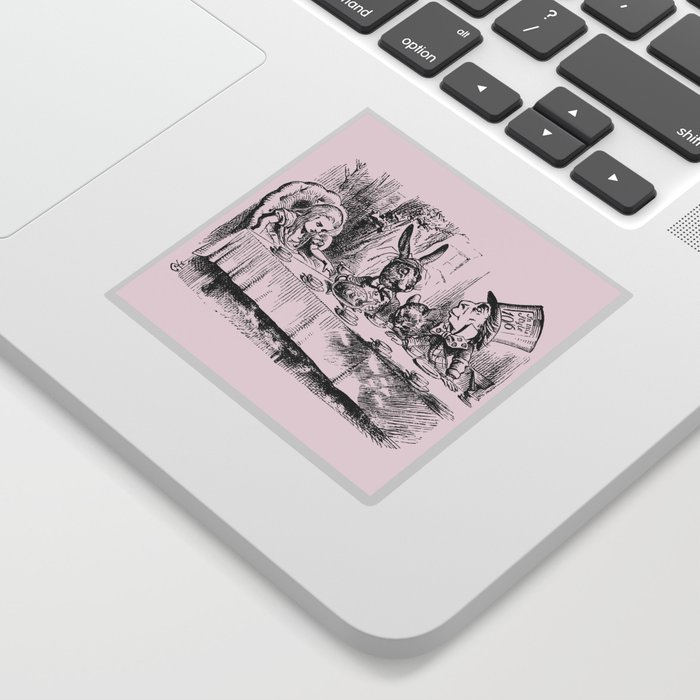 Blush pink - mad hatter's tea party Sticker