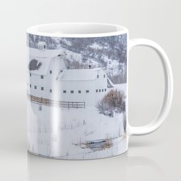 White Barn in Utah Mountains Coffee Mug