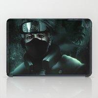 kakashi iPad Cases featuring Kakashi of the sharingan  by Shibuz4