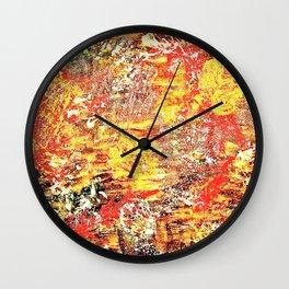 Golden Autumn Abstract Wall Clock
