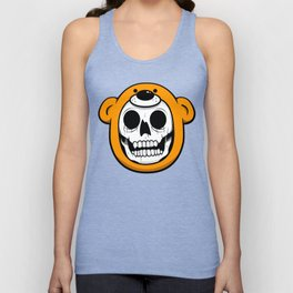 Alfredo Monster Skull Bear Hat  Unisex Tank Top