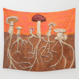 Laughing Shrooms Wall Tapestry