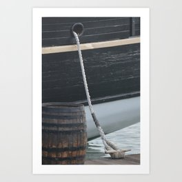 Barrel Ship and Cleat Art Print