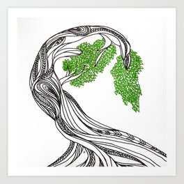Bowing Tree Art Print