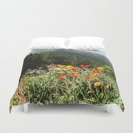 Mountain garden Duvet Cover