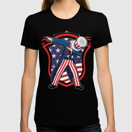 USA America 4th Of July Independence Day Freedom Dabbing Dabber Gift T-shirt