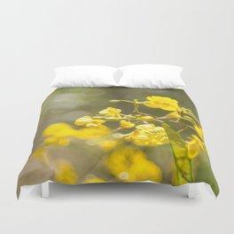 Popcorn Flower Bokeh Delight Duvet Cover