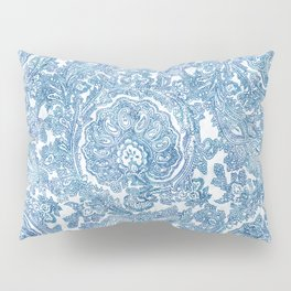 Blue Boho Paisley Pattern II Pillow Sham