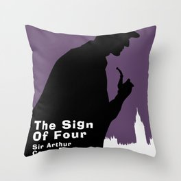 The Sign of Four -Sherlock Holmes Throw Pillow