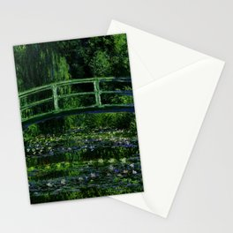 The Water Lily Pond Deep & Dark Stationery Cards