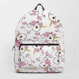 Simple magic unicorn icon Backpack