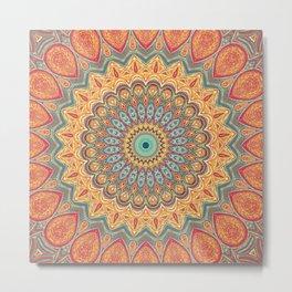 Jewel Mandala - Mandala Art Metal Print