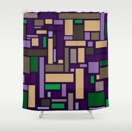 Pastel Rectangles Shower Curtain
