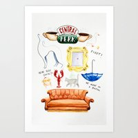 friends tv Art Prints featuring friends by Huntleigh