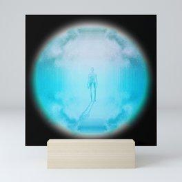 Psychedelic Mystery Man - Blue #5 Circle Mini Art Print