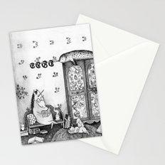 Unicorn house Stationery Cards