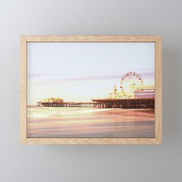 Santa Monica Pier Sunrise Framed Mini Art Print