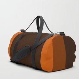 Dark Orange Square Design Duffle Bag