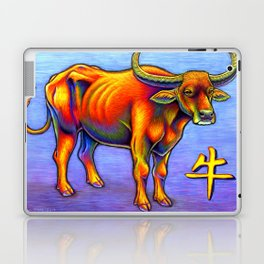 Chinese Zodiac Year of the Ox Colorful Bull Laptop & iPad Skin