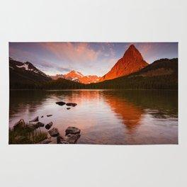 Swiftcurrent Lake, Glacier National Park Rug