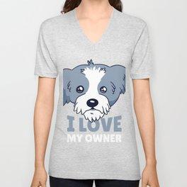 Love Owner Dog Unisex V-Neck