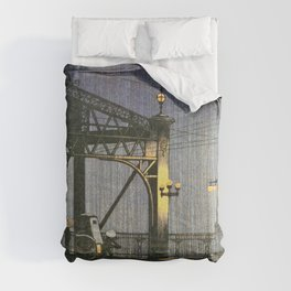 Kawase Hasui - Twenty Views Of Tokyo, Shinohashi Bridge - Digital Remastered Edition Comforters