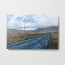 On the road.  Metal Print