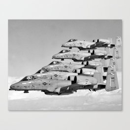 A-10 Warthogs Flying In Formation Canvas Print