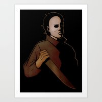 michael myers Art Prints featuring Michael Myers by Jetpacksquirrel