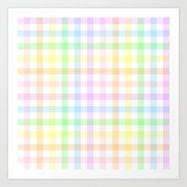 Rainbow Gingham Art Print