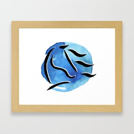 Spirit Horse {Blue Watercolor} Framed Art Print