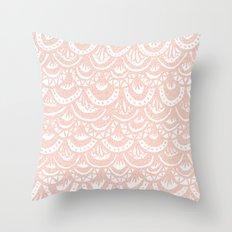 Rose Gold Mermaid Pattern Throw Pillow