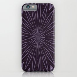 Artisitic Floral Kaleidoscope Pattern Purple Shades iPhone Case