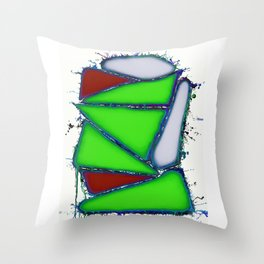 Green sail Throw Pillow