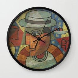 Buck Mulligan at the 40 foot 'Ulysses' Wall Clock