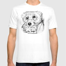 Plastic Fangs Collective White SMALL Mens Fitted Tee