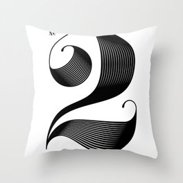 No. 2 Throw Pillow