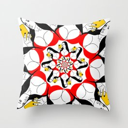 Mandala Selfie Girl Throw Pillow