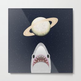 The Universe Is A Shark's Playground Metal Print
