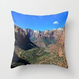 Zion Canyon Utah Throw Pillow