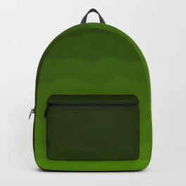 Dark Rich Forest Green Ombre Backpack