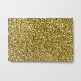 Festive Gold Glitter Metal Print